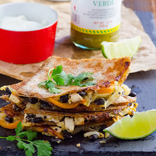 Lighter Fajita Quesadillas