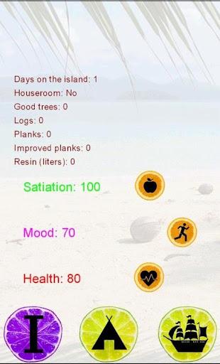 Desert island text game