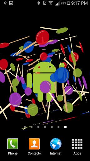 Lollipop 3D Live Wallpaper