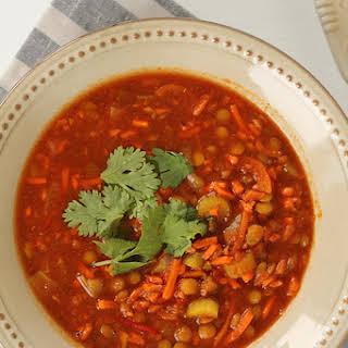 Slow Cooker Spicy Vegan Stew.