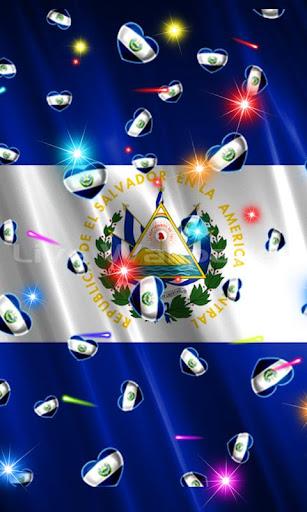 El Salvador Flag Heart