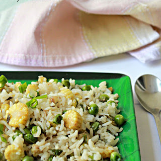 Baby Corn and Green Peas Rice Recipe