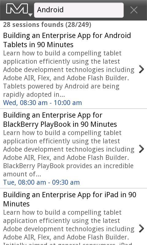 Adobe MAX yamsc 2011- screenshot