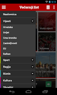 Večernji list- screenshot thumbnail