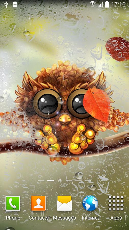 Cute Fall Owl Backgrounds