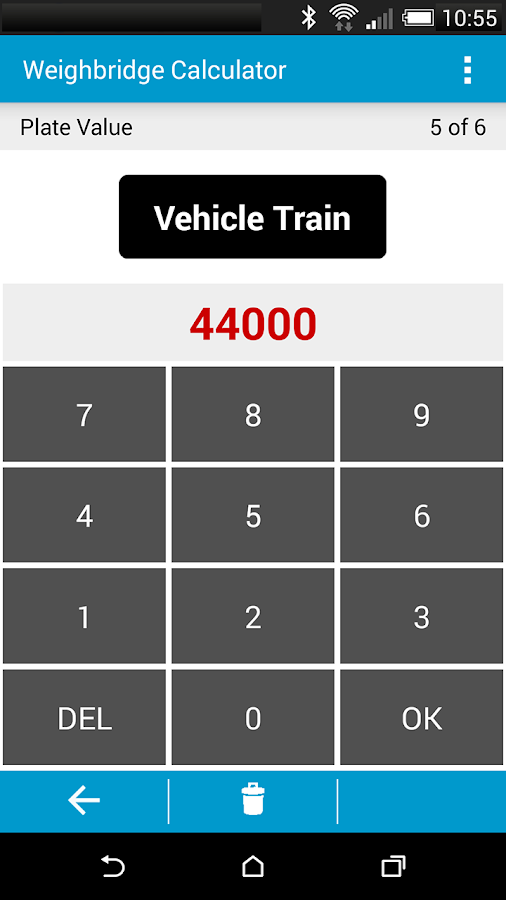 Weighbridge Calculator - screenshot