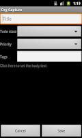 Screenshot of MobileOrg (Donate)