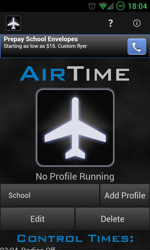 AirTime- screenshot