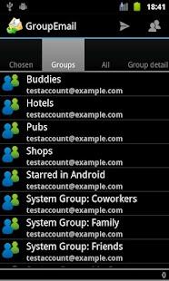 GroupEmail - náhled