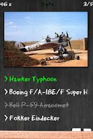 Screenshot of Military Fighter Jets Quiz