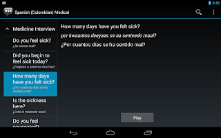 Screenshot of Spanish (Colombia) Medical