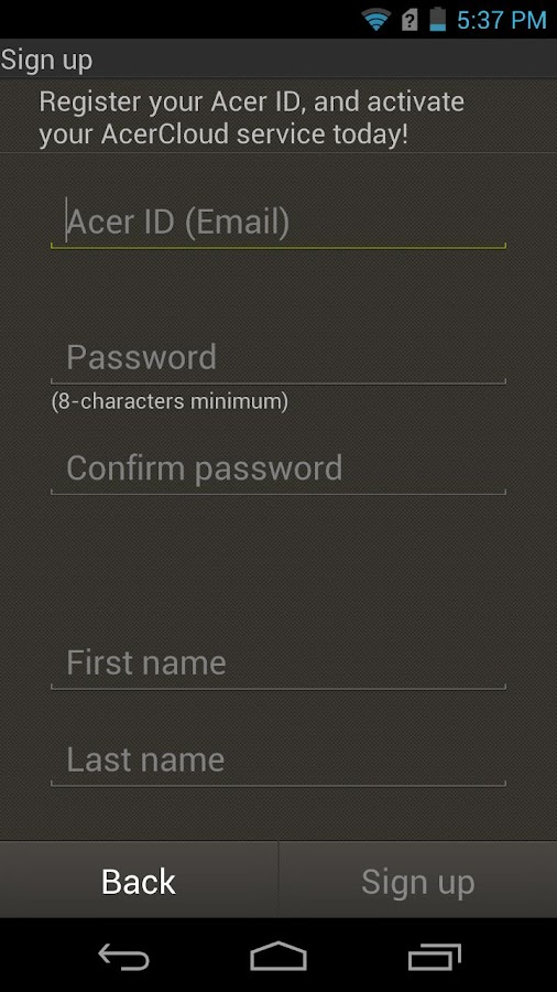 AcerCloud Portal - screenshot