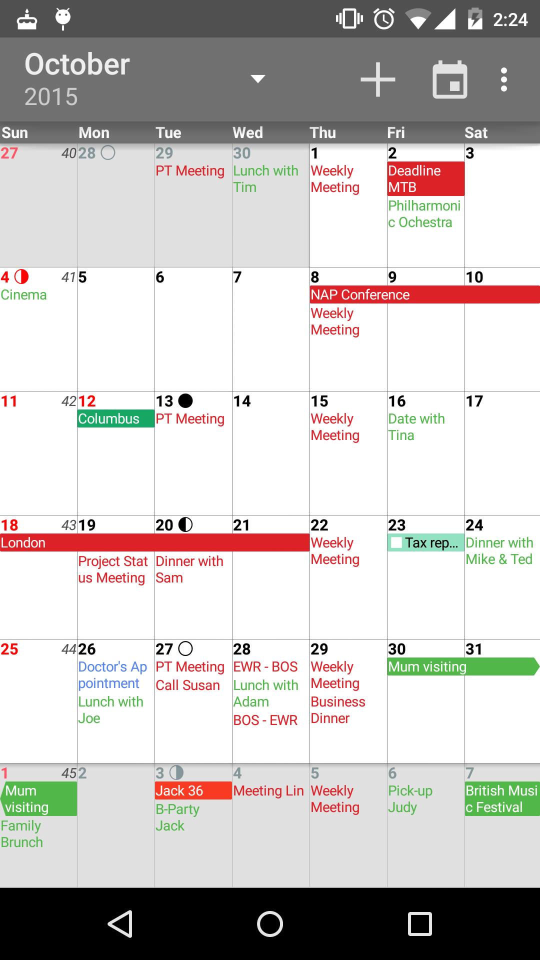 aCalendar+ Calendar & Tasks screenshot #4