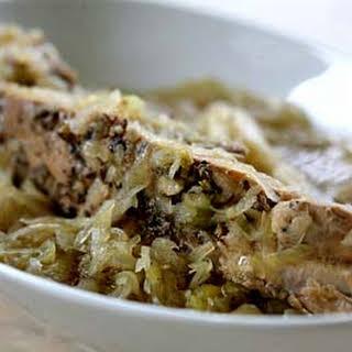 Spare Ribs, Cabbage, and Sauerkraut.