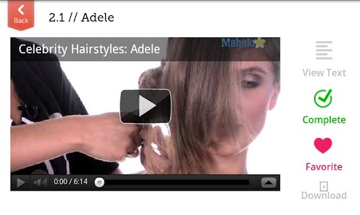 Celebrity Hairstyles - screenshot thumbnail