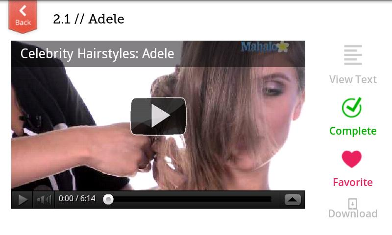 Celebrity Hairstyles - screenshot