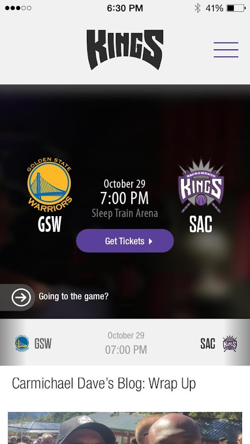 Sacramento Kings App - screenshot