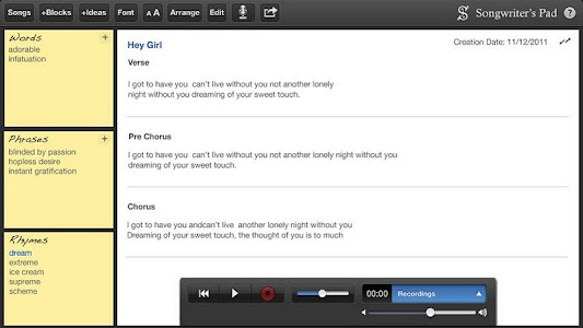 Songwriter's Pad™ - Tablets v1.0
