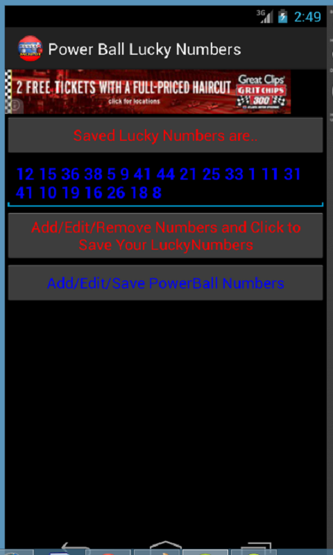 Powerball Lottery, Generator + - screenshot