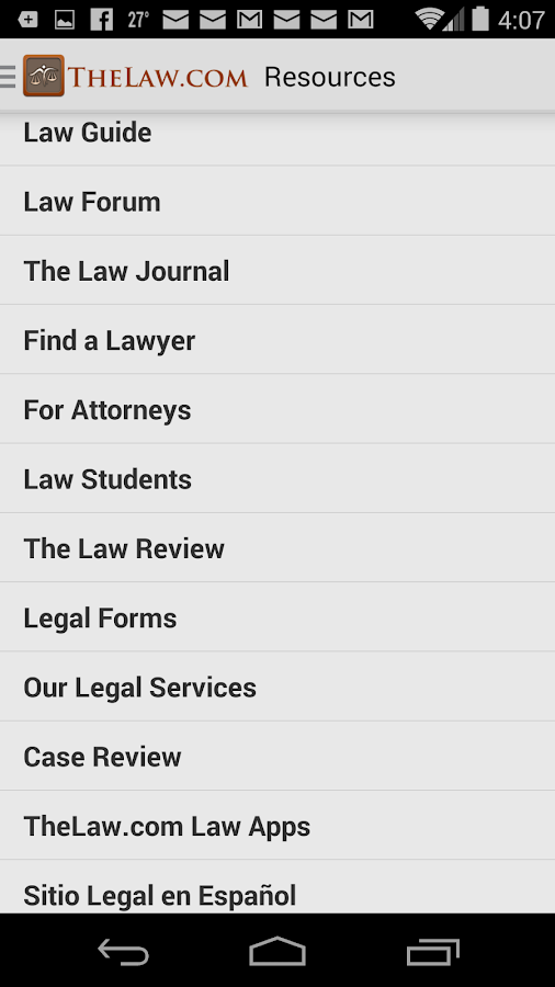 Law Dictionary / Guide- screenshot