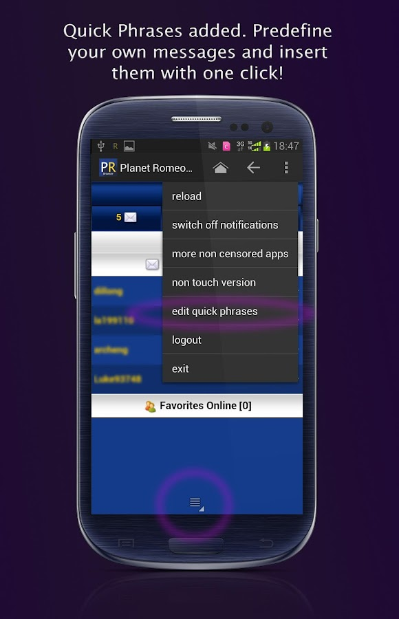 Planet Romeo Browser - screenshot