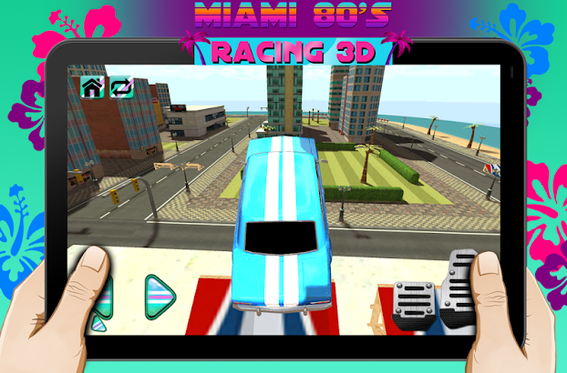 Miami Beach 80s Racing 3D- screenshot thumbnail