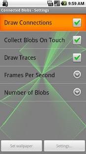 Connected Blobs Live Wallpaper - screenshot thumbnail