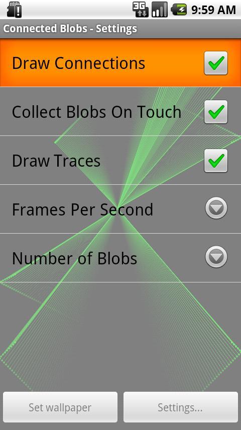 Connected Blobs Live Wallpaper - screenshot