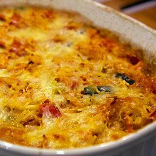 "Gluten-Free Cheesy Veggie ""Pasta"" Bake."