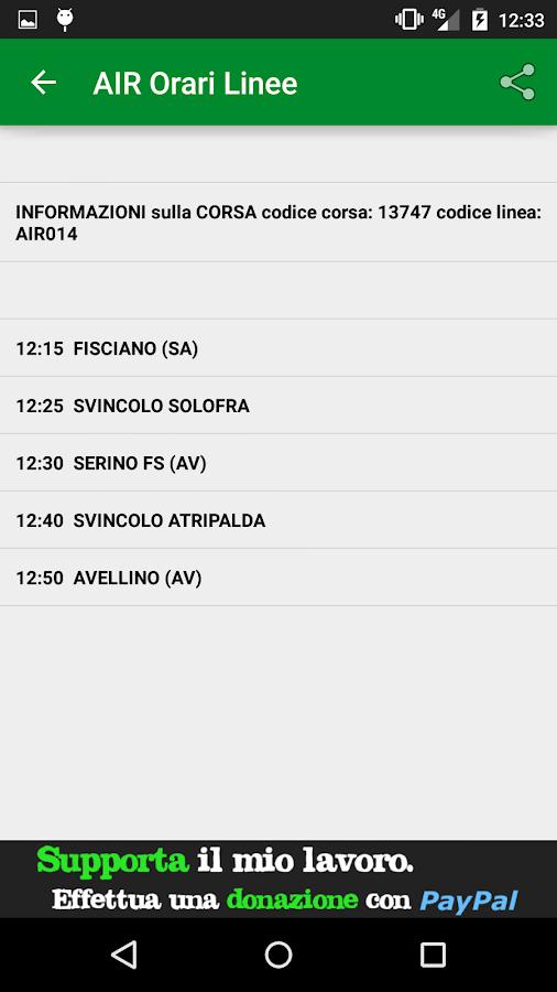 AIR Orari Linee - screenshot