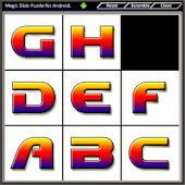 Magic Slide Puzzle Letters
