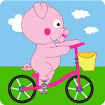 Peppie Pig Bike Racing Games 1.0.3 Apk