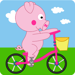 Peppie Pig Bike Racing Games for PC and MAC