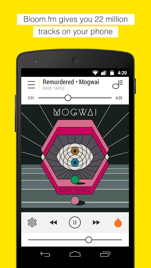Resultado de imagen para bloom fm app para musica