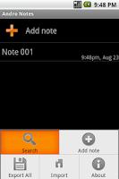 Screenshot of Andro Notes