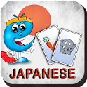 Japanese flash cards for kids icon