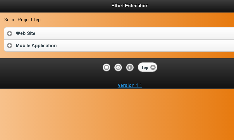 Effort Estimation Lite - screenshot