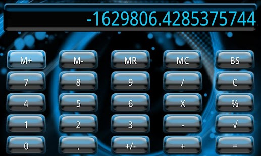 Blue Galaxy Calculator Theme - screenshot thumbnail
