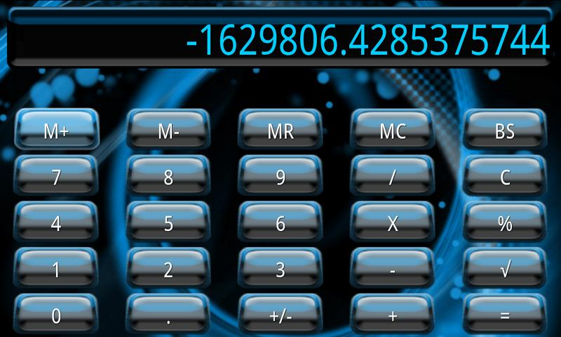Blue Galaxy Calculator Theme - screenshot