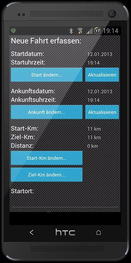 Logbook2Go (Fahrtenbuch2Go) - screenshot
