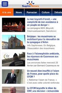 Saphirnews.com- screenshot thumbnail