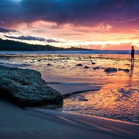 Sunshine Yearning by Sonny Saban - Landscapes Beaches ( sunsets, termanu, sasando, rote ndao )