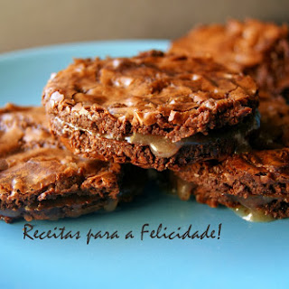 Chocolate Biscuits with Caramel Filling.