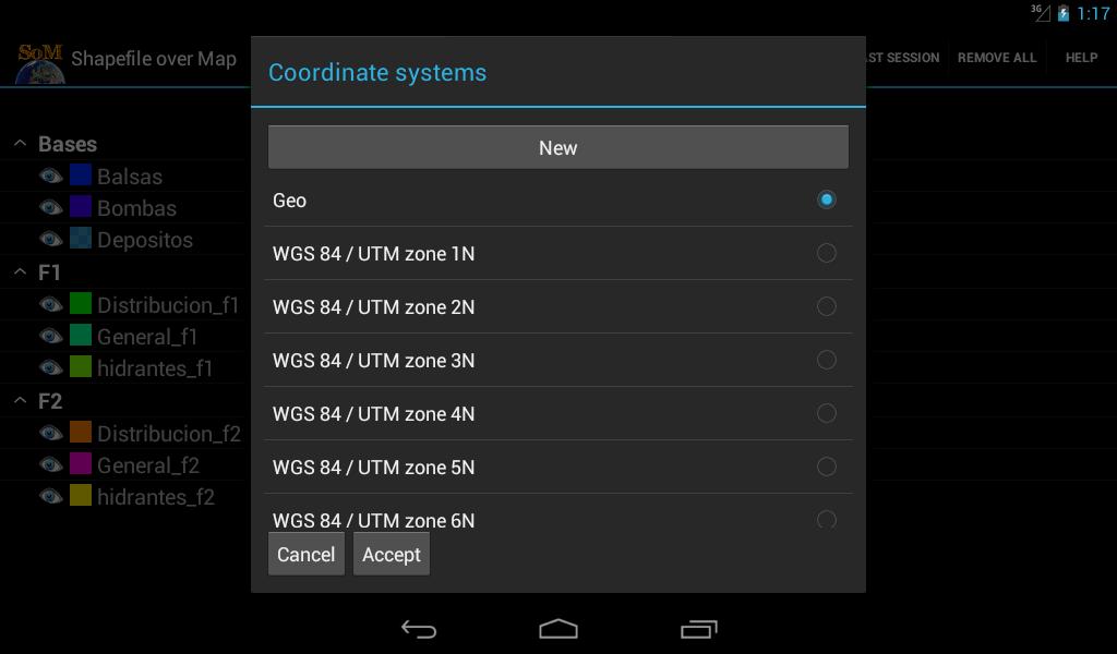 Shapefile over Map - screenshot