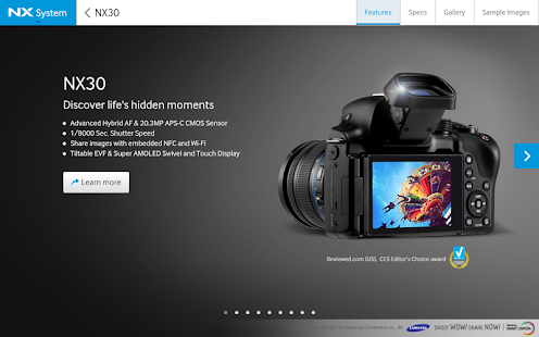 Samsung SMART CAMERA NX - screenshot thumbnail
