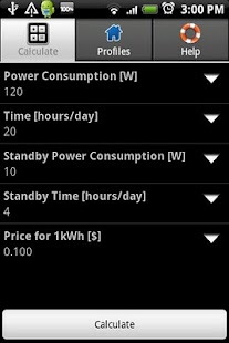 Power Consumption Calculator - screenshot thumbnail