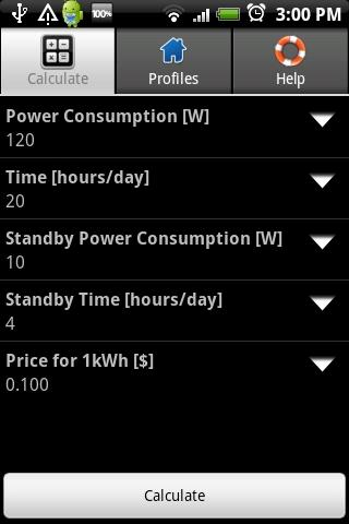 Power Consumption Calculator - screenshot