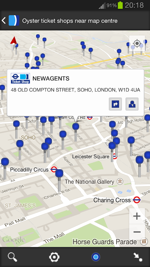 London Oyster Contactless- screenshot