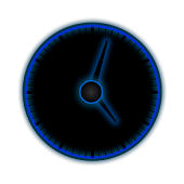 ICS Blue analog Clock Widget