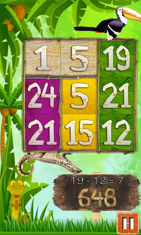 Jungle Math Puzzle 4 Kids Free - screenshot